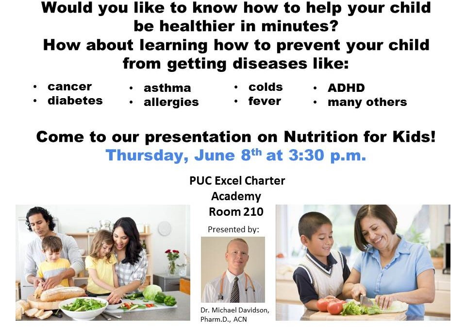 Presentation on Nutrition for Kids